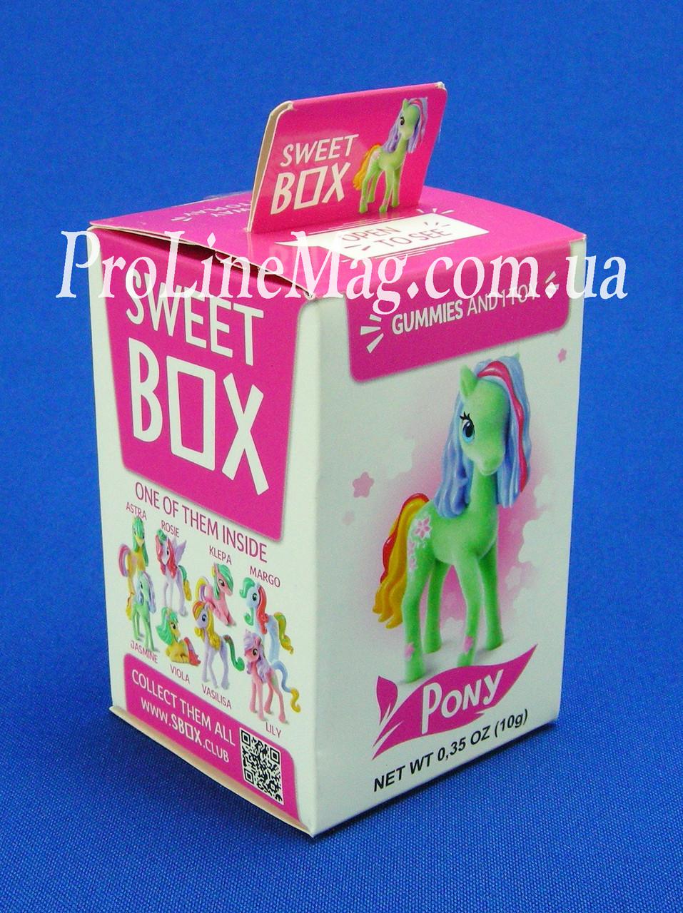"""Свит Бокс """"Цветочные Пони"""" Мармелад с игрушкой в коробочке"""
