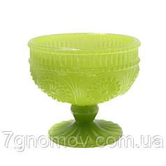 Креманка из цветного сатового стекла Роузи