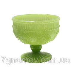 Креманка из цветного зеленого стекла Роузи