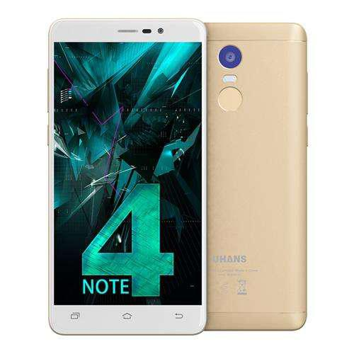 "Смартфон Uhans Note 4 3/32Gb Gold, 13/5Мп, 5.5""  IPS, 4000mAh, 2sim,  MT6737, 4 ядра, 4G (LTE)"