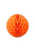 Шар соты из тишью 20 см оранжевый