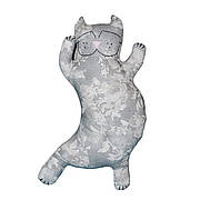 Подушка серый кот