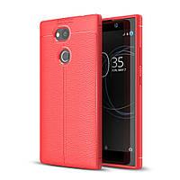 Чехол Sony L2 / H4311 / H3311 / H3321 / H4331 силикон Original Auto Focus Soft Touch красный