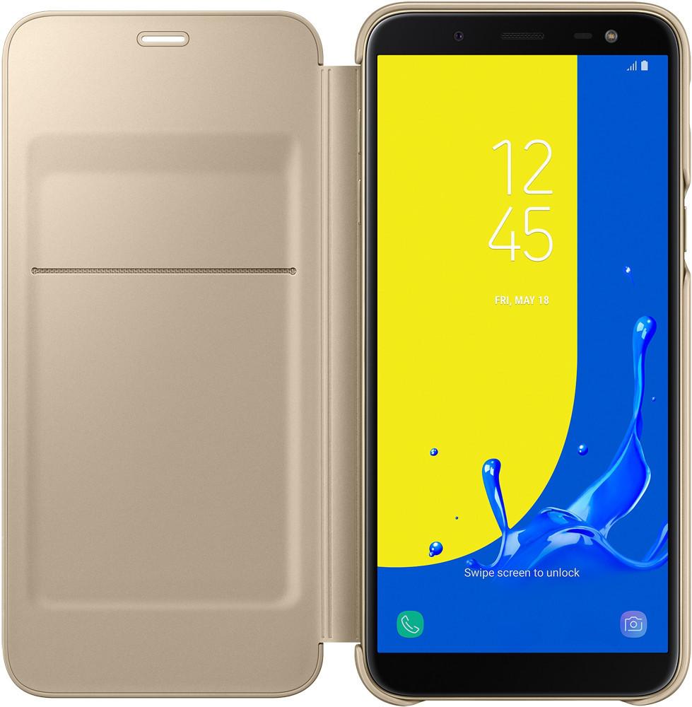 Samsung Wallet Cover Galaxy J6 J600 gold (J600) 2018 Для телефона Чехол-книжка