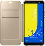 Чехол Samsung Wallet Cover Galaxy J6 J600 gold (EF-WJ600CFEGRU) EAN/UPC: 8801643311612, фото 2
