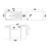 Кухонная мойка ukinox COР 972.492.15(полировка), фото 2