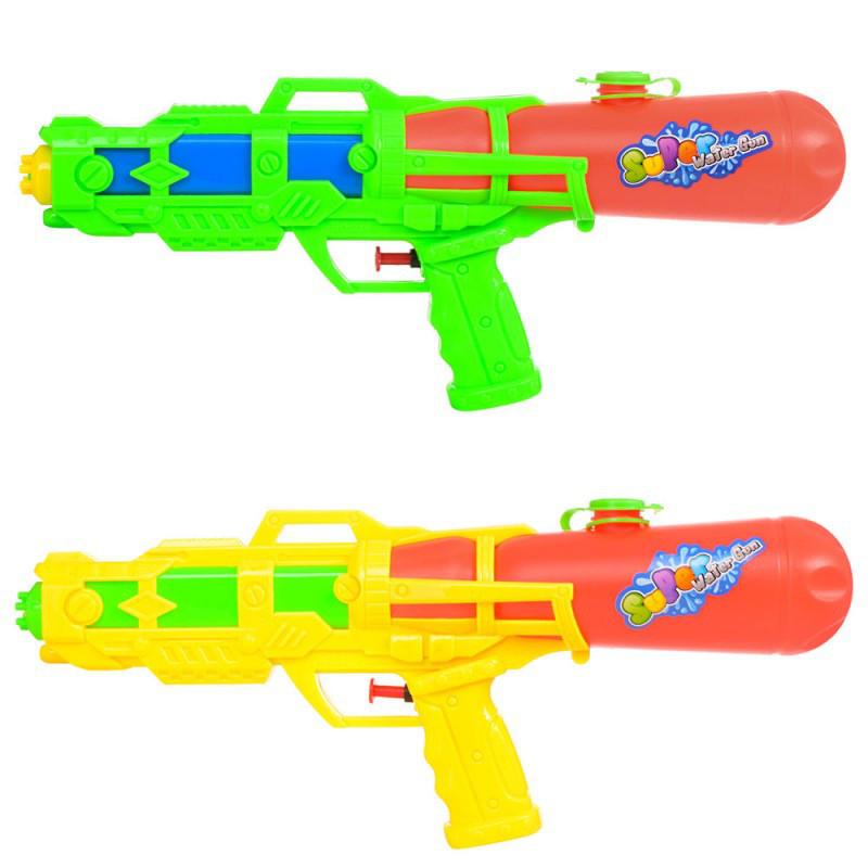 Водяний пістолет M 5600 розмір середній, 34 см., 2 кольори, в кульку, 34-15-5 см