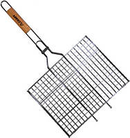 Решетка для гриля 35х26х2см деревяная ручка