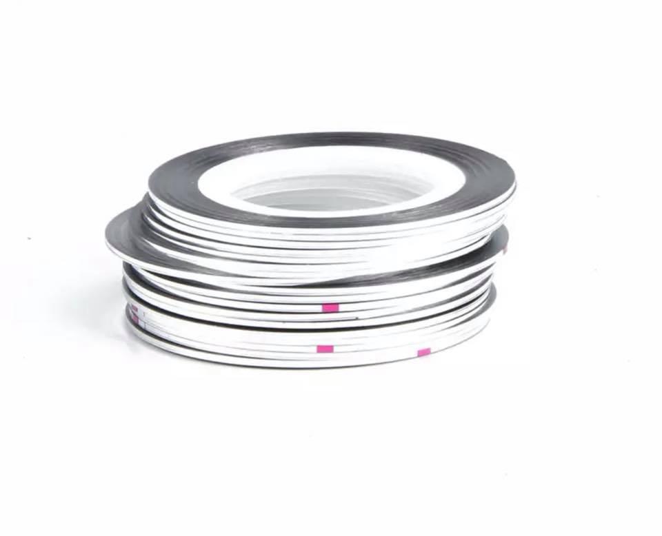 Нитка для нігтів в рулоні STZ срібло 0,8 мм