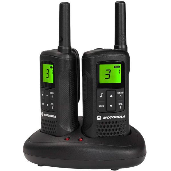 Рация Motorola TLKR Т60 (0.5W, PMR446, 446 MHz, до 8 км, 8 каналов, 4xAAA), комплект 2шт., черная