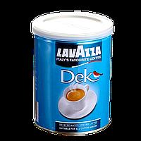 Кофе молотый Lavazza Decaffinato 250г 30/70 банка