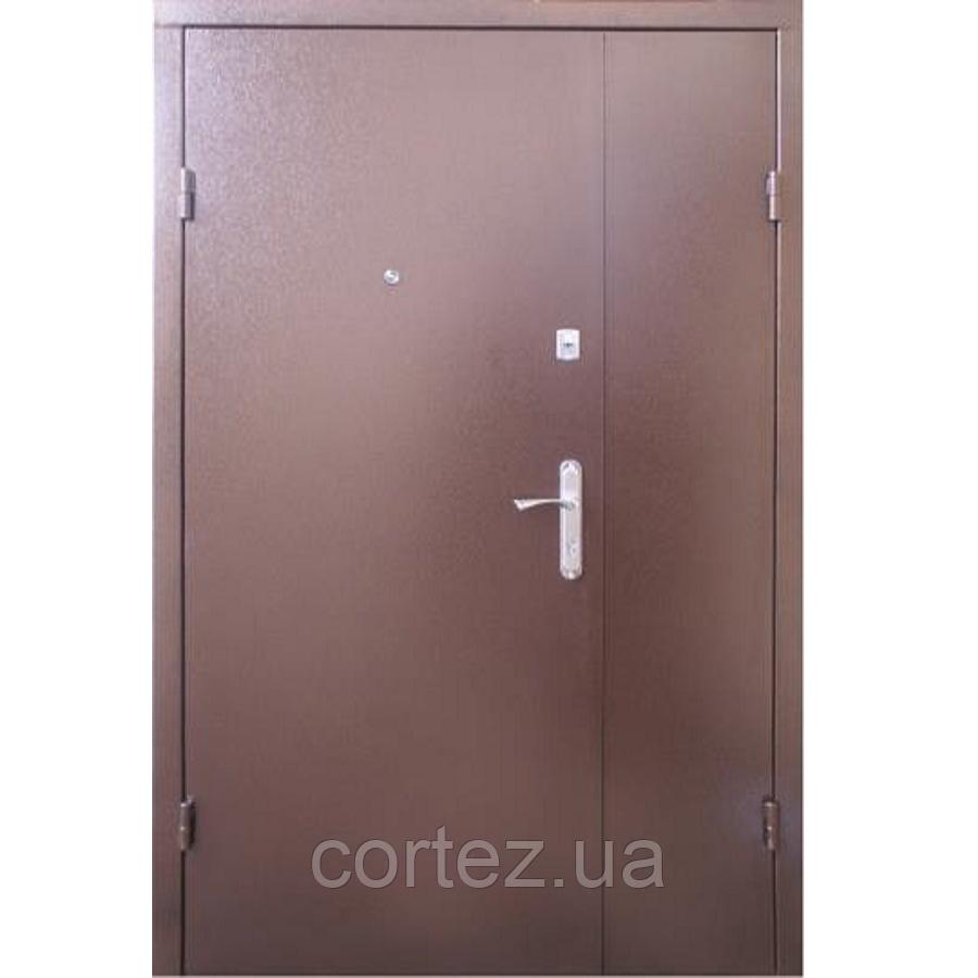 Входные полуторные двери метал/мдф 105
