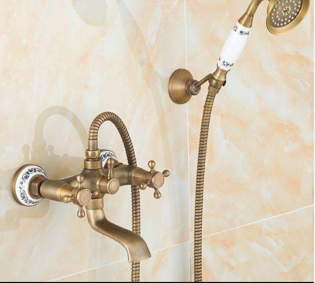 Смеситель для душа (ванны) в бронзе 2-036