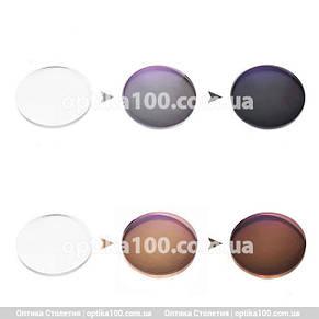 Лінза хамелеон для окулярів. Фотохромная скляна, фото 2