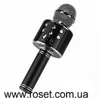 Портативный Bluetooth караоке микрофон Wster WS KTV-858 Black с динамиком