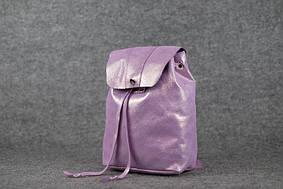 Женский рюкзак на затяжках с кнопкой |11940| Лиловый