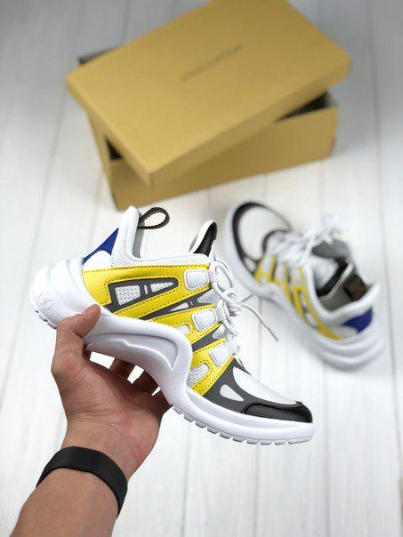Женские кроссовки Louis Vuitton Archlight Sneaker yellow,Реплика топ