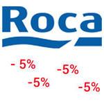 Дополнительная скидка 5% ТМ Roca Испания