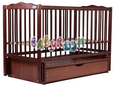 Кровать Дубок Веселка маятник, ящик DVMY-4 бук тик
