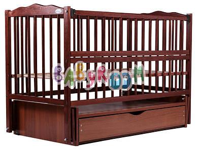 Кровать Дубок Веселка маятник, ящик, откидной бок DVMYO-3 бук тик