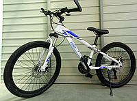 Спортивный подростковый велосипед TopRider 814 24 дюйма. Бело-синий, фото 1
