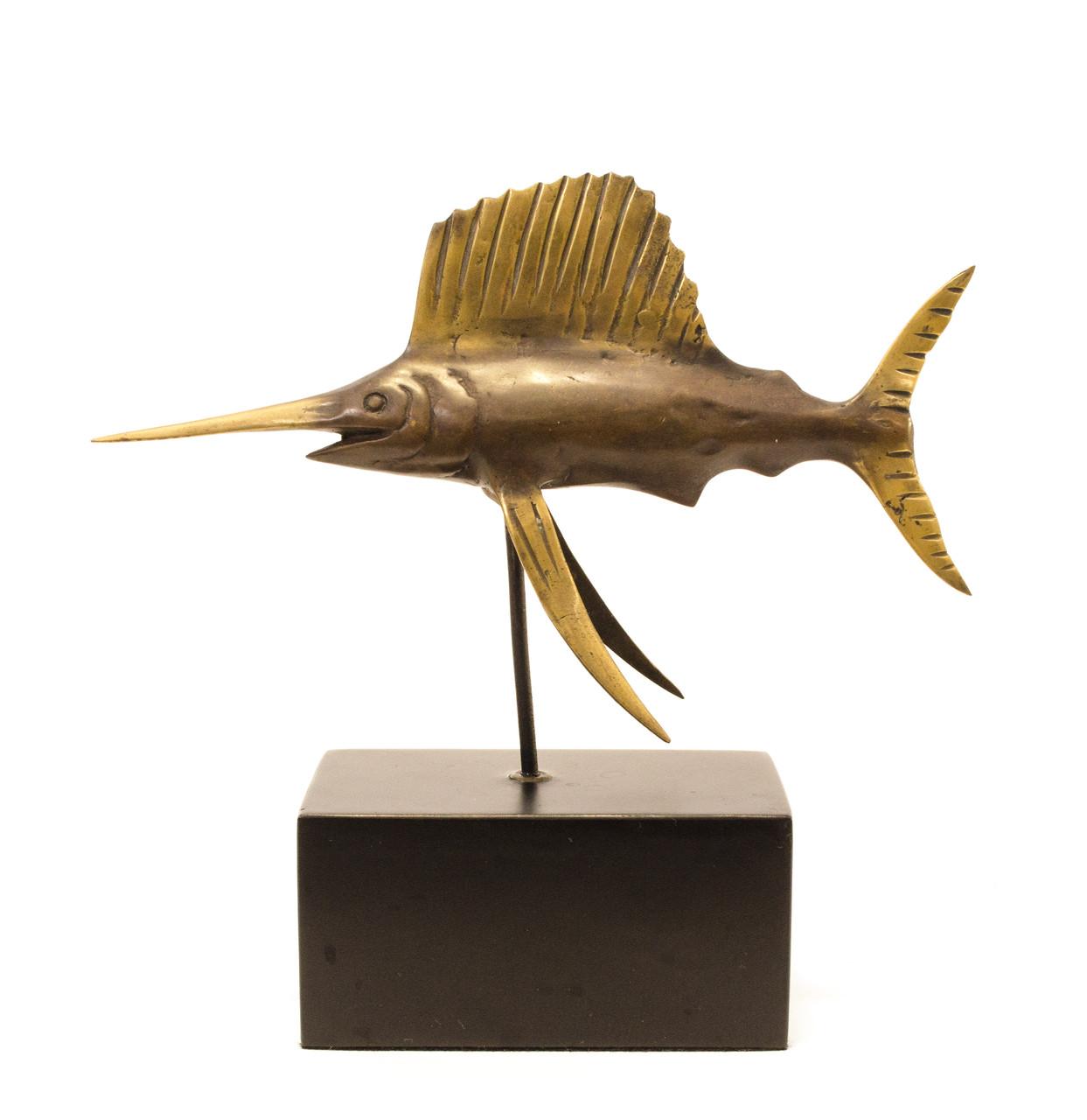"""Бронзовая статуэтка """"Рыба-Меч"""", бронза, литье, Германия"""