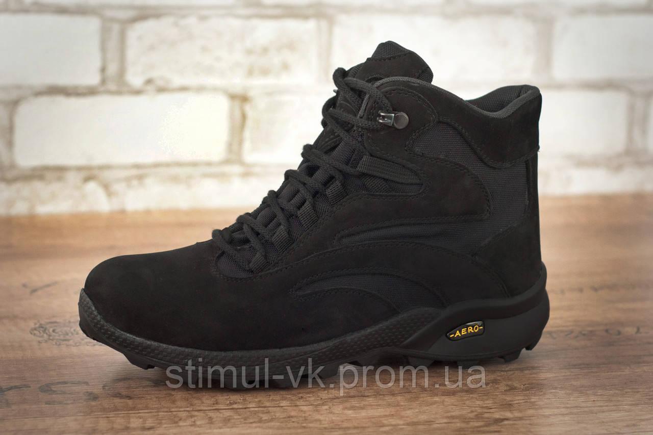 Ботинки тактические STIMUL Ультра зима/деми нубук черный
