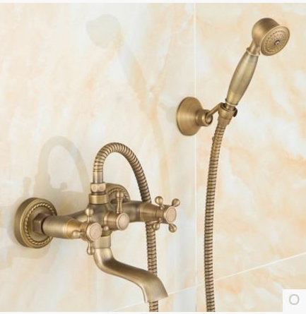 Смеситель для ванны (душа) в бронзе вентильный 2-037