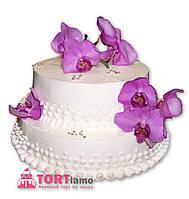 """Свадебный торт на заказ """"Сиреневые орхидеи"""""""