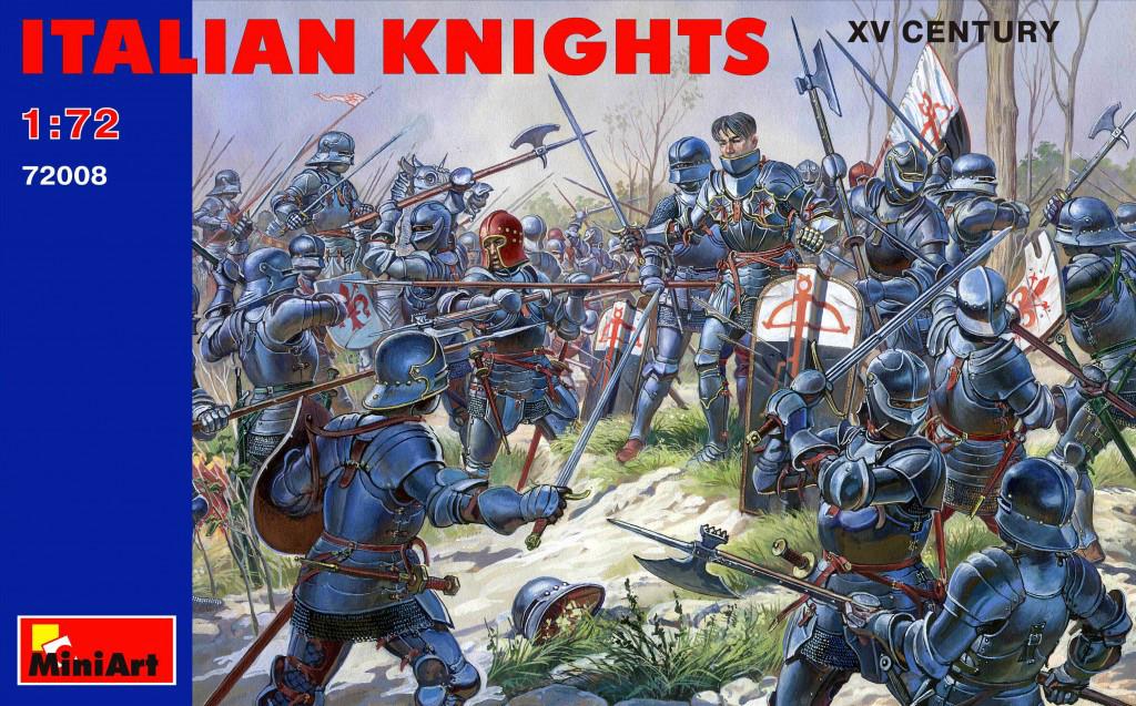 Набор фигур. Итальянские рыцари XV век. 1/72 MINIART 72008