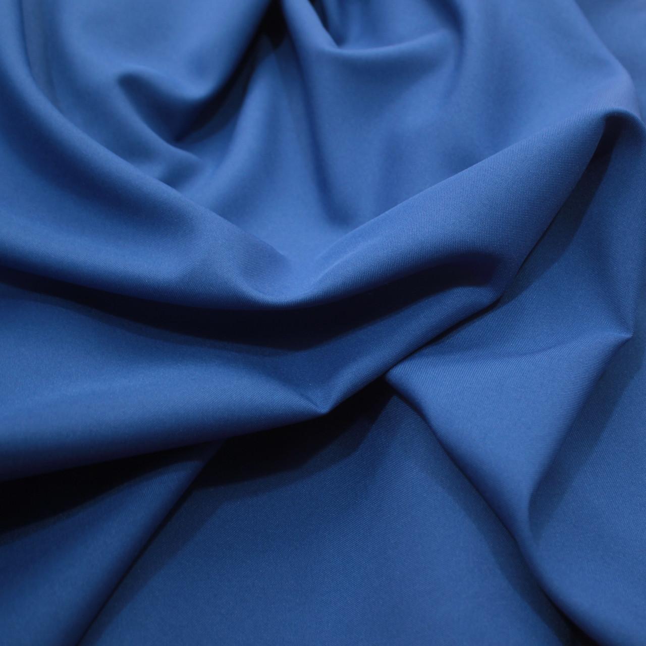 Костюмная ткань габардин синий электрик