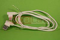 """USB Cable тип C """"Speed"""" кутовий з двох сторін 2.1A"""