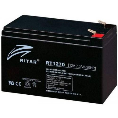 Аккумуляторная батарея Ritar Power RT1270E, 12V 7Ah