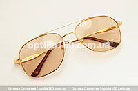 Небольшие солнцезащитные очки хамелеоны. Стеклянные линзы