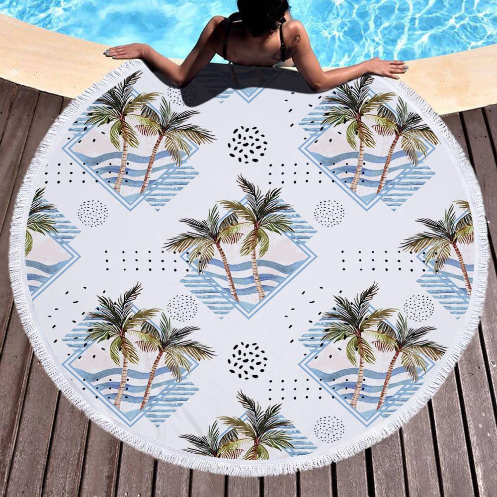 Круглое покрывало-полотенце - 40046