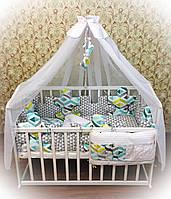"""Комплект белья в детскую кроватку для новорожденных Bonna """"Пазлы"""""""