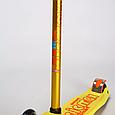 Трехколесный самокат SCOOTER MICMAX Deluxe с прорезиненной платформой и со светящимися колесами, Желтый, фото 3