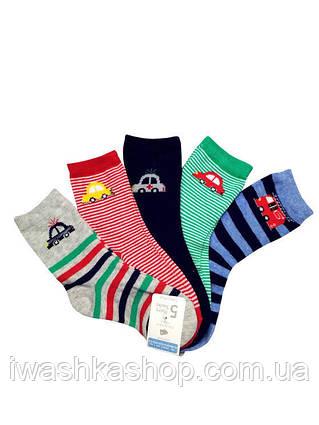 Носки с машинками для мальчика на 6-12 месяцев, комплект носков Primark, р. 0-18,5