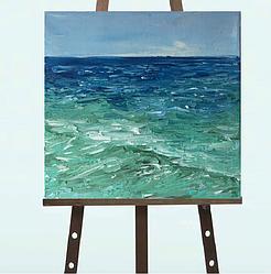 """Картина """"Море"""" масло 20*20"""
