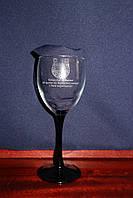 Оригинальный бокал для вина с гравировкой рисунка на подарок любимой