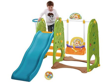 Детская игровая площадка,горка,качеля,бакетбол 4in1 SP0398  , фото 2