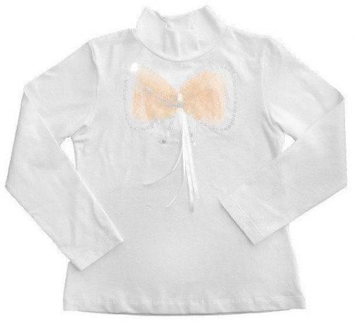 """Блуза детская """"Ажурный бант"""" персиковый, фото 2"""