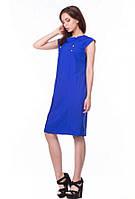 Платье женское летнее цвет электрик свободного кроя молодежное, платье красивое нарядное большого размера, фото 1