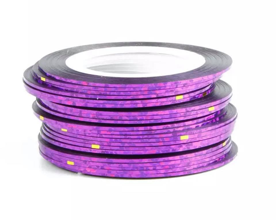 Нить для ногтей в рулоне STZ фиолетовый с блеском 0,8 мм