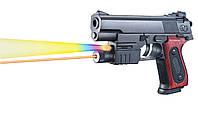 Пистолет с лазером, светом и пульками