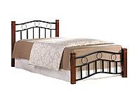 Кровать односпальная Берта 90х200 каштан