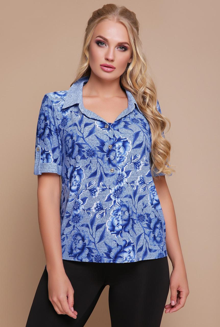 d450ac6186e66f8 Блузка рубашка женская нарядная блуза трикотажная летняя больших размеров -  Интернет магазин Sport-sila.