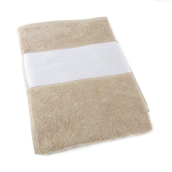 Полотенце с белым бордюром, 50х100 см, 420 г/м2