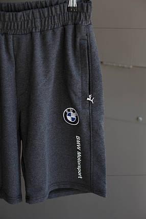 Мужские шорты Puma ( BMW Мotorsport) темно серые, фото 2