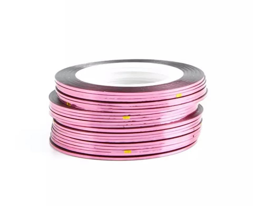Нитка для нігтів в рулоні STZ рожевий 0,8 мм